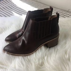 New Madewell Brown Chelsea Leather Ankle Boots